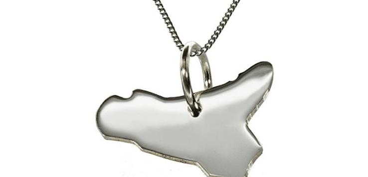 ciondolo in argento scilia