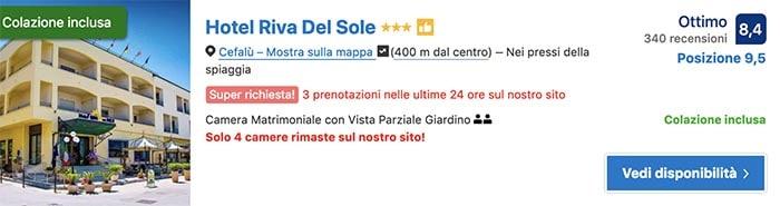 Hotel Riva del Sole Cefalù