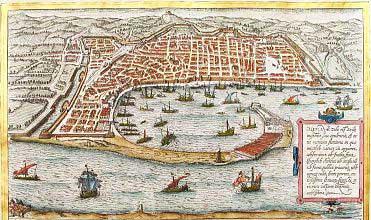 Carta antica della città di Messina