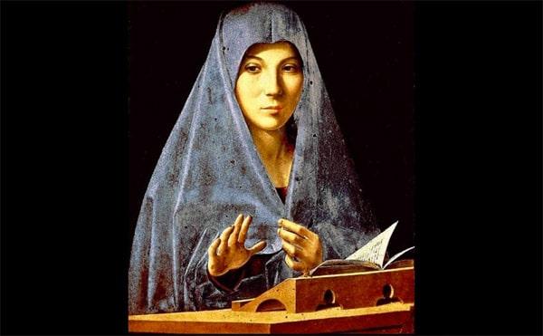 Antonello da Messina: L'Angelo e la Madonna - di Eugenio Battisti -