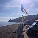 Mobilhome camper spiaggia